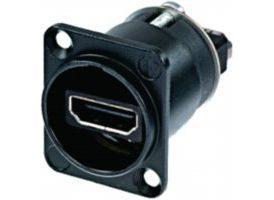 Adaptador Neutrik HDMI 1.3 carcasa en forma de D Negro