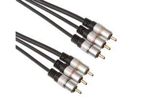 1 x conector RCA vídeo macho + 2 x conector RCA audio macho