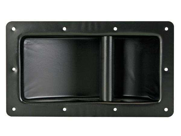 Asa robusta para caja acústica, metal negro, 280 x 160mm
