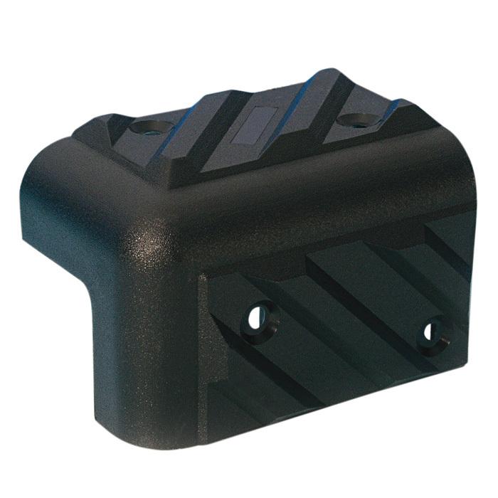 Adam Hall Hardware 4013 - Cantonera apilable de plástico negro