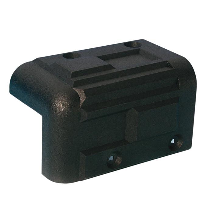 Adam Hall Hardware 4071 - Cantonera apilable de plástico negro