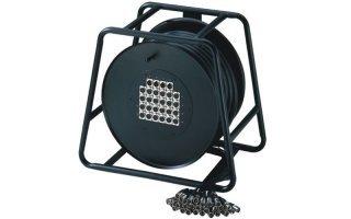 Adam Hall Cables K20C30D - Manguera de Cable en Enrollador con Cajetín de Escenario 16/4 30