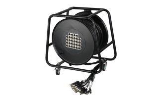 Adam Hall Cables K 20 C 50 D - Manguera de Cable en Enrollador con Cajetín de Escenario 16/4 50