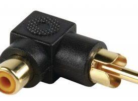Adapter acodado 90° RCA Hembra - RCA Macho