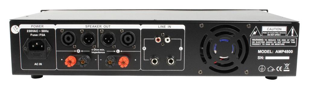Amplificador PA 2 x 240W KÖNIG