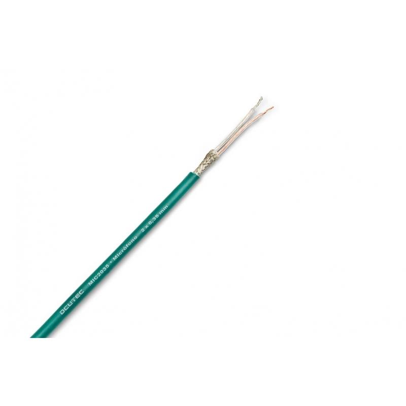Bobina cable micrófono 2x035 mm2 - Verde DCU