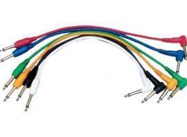 Yellow Cables ECOP090CD-6 - Juego de 6 cables patch 90 cm Jack Mono a Jack Mono acodado