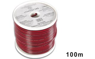 CABLE ALTAVOZ - ROJO/NEGRO - 2 x 0.75mm² - 100m