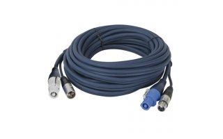 Cable alimentación Powercon + Dmx  de 10  m