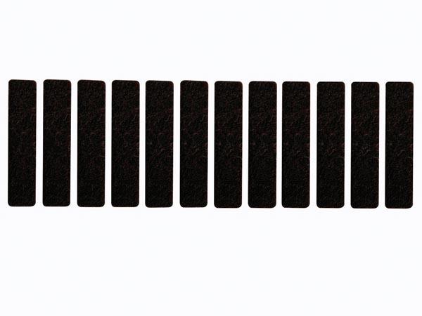 CINTA DE FIELTRO ADHESIVA - RECTANGULAR 15mm x 68mm, 12 uds.
