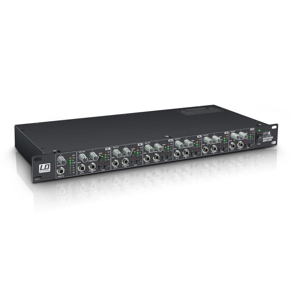 "LD Systems HPA 6 - 19"" Amplificador de Auriculares 6 Canales"