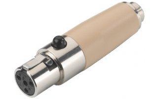 Adaptador Mini XLR 4 polos hembra a jack 2,5 hembra estéreo - NT