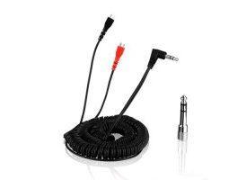 Cable espiral Sennheiser HD 25 - Negro 3.5 m