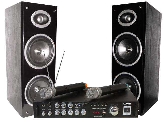 Karaoke LTC Star3 - 2 x Micrófonos inalambricos + Bluetooth