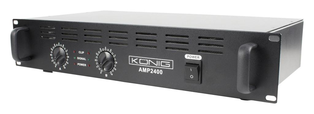 Amplificador PA 2x 120W - Konig AMP 2400