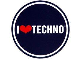 Pareja de patinadores I Love Techno