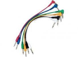 Yellow Cables ECOP060CD-6 - Juego de 6 cables patch 60 cm Jack Mono a Jack Mono acodado