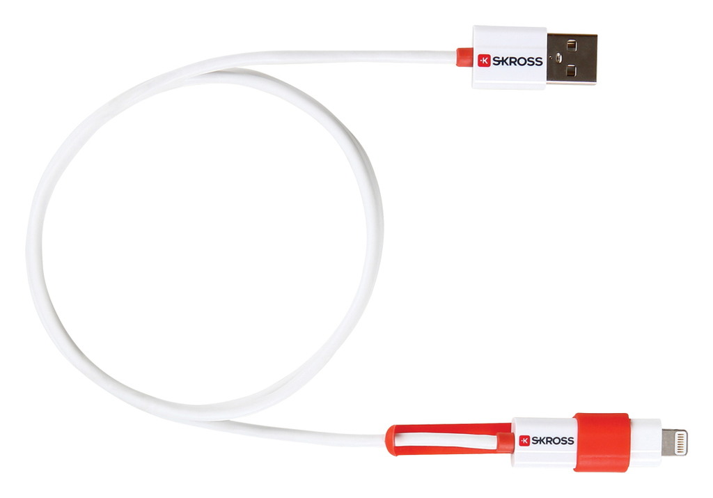 2 in 1 Charge 'n Sync cable with Micro USB & Lightning connector