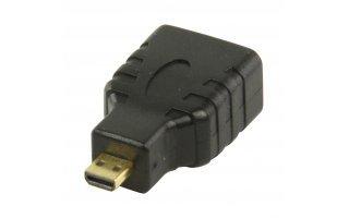 Adaptador HDMI con micro conector HDMI - entrada HDMI en color negro - VGVP34907B