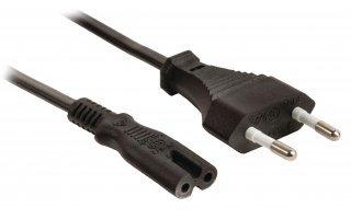 Cable de alimentación de conector Euro macho de 2.00 m