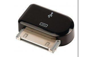 Adaptador de 30 pines, dock de 30 pines macho – USB Micro B hembra, negro