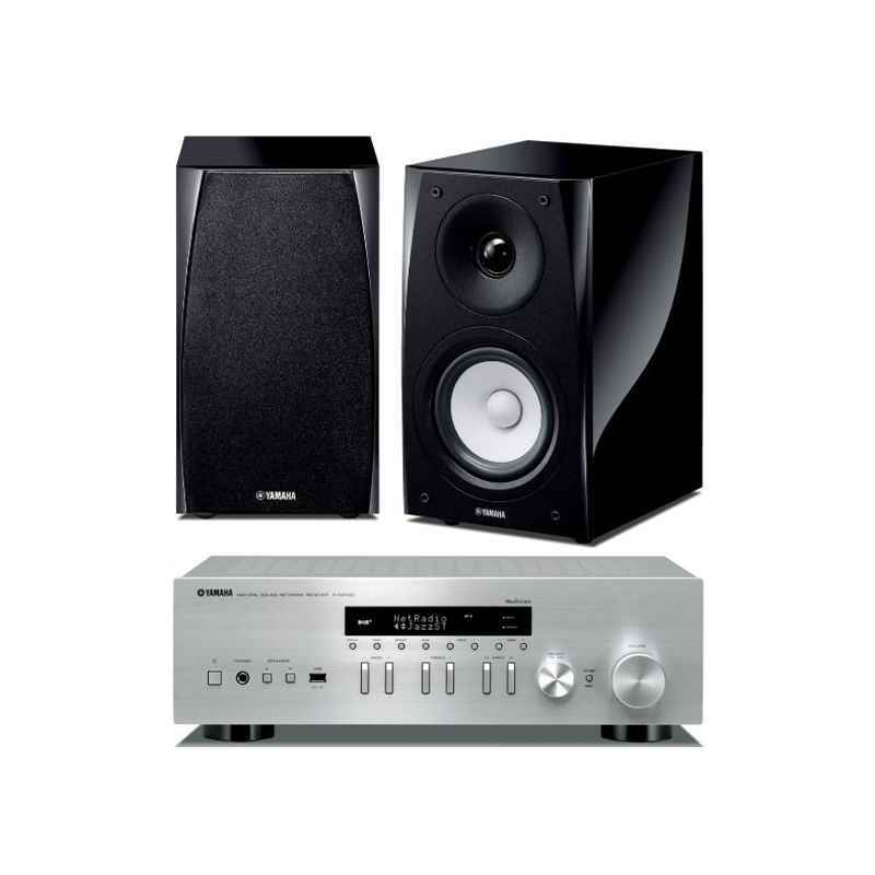 yamaha r n402d plata yamaha ns bp182 pareja conjuntos hifi. Black Bedroom Furniture Sets. Home Design Ideas