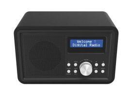 DAB-35 - RADIO DAB+/FM PORTÁTIL - CARCASA DE MADERA - COLOR NEGRO