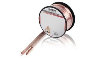 Bobina de cable altavoz OFC 2x 4.00 mm² Transparente