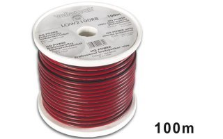CABLE ALTAVOZ - ROJO/NEGRO - 2 x 1.00mm² - 100m