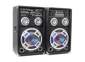 "SkyTec KA-10 Set de Altavoces Activos 10"" USB/RGB LED 800W"