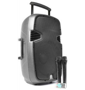 "SkyTec SPJ-PA915 Bafle movil activo ABS 15"" 2 micros VHF/USB/MP3"
