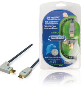 Cable HDMI con Ethernet HDMI macho - HDMI macho Ángulo hacia la izquierda 5 metros cable azul