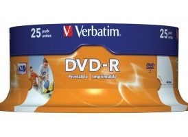 DVD-R 4.7 GB 16x Matt Silver imprimible pack de 25 uds.