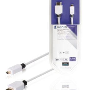 Cable de Alta Velocidad HDMI™ con Conector Ethernet HDMI™ a Conector Micro HDMI™ de 1,00 m