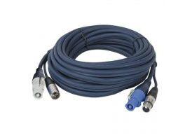 Cable alimentación Powercon + Dmx  de 0.75 m