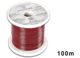 CABLE ALTAVOZ - ROJO/NEGRO - 2 x 0.50mm² - 100m