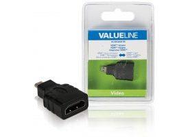 Adaptador HDMI con micro conector HDMI - entrada HDMI en color negro