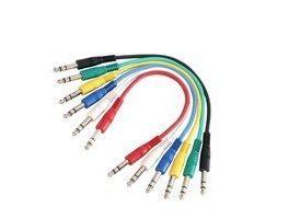 Adam Hall Cables K3 BVV 0030 SET Set Latiguillos de Cable de Jack 6 cables 6,3 mm estéreo a Jack