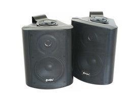 SkyTec Conjunto de altavoces stereo, 2-vias, 100W max, Negro - Pareja