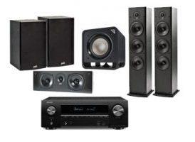 Denon AVR-X1500H + Polk Audio: 2x T-50 + 1x T-30 Central + 1x T-15 Surround + HTS Sub 10