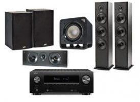 Denon AVR-X2500H + Polk Audio: 2x T-50 + 1x T-30 Central + 1x T-15 Surround ( Pareja ) + HTS Sub