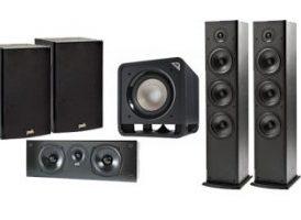 Polk Audio - Altavoces Home Cinema : 2x T-50 + 1x T-30 Central + 1x T-15 Surround + Subwoofer