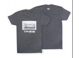 Roland TR909 Crew T-Shirt LG Charcoal