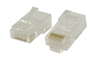 Conectores RJ45 para cables UTP CAT6 trenzados 10 uds - Valueline VLCP89305T