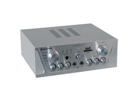 SkyTronic Amplificador Karaoke FM/USB/SD Plata