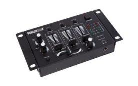 Mesa de mezclas estéreo de 3 canales + 2 entardas micrófono